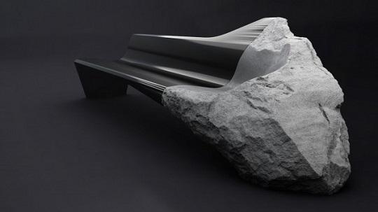 Divano pietra e carbonio