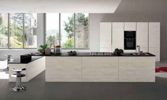 Cucina Rovere Sbiancato E Bianco: Soluzioni arredamento a ...
